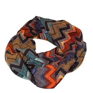 Accessories - Chevron Print Colorful Infinity Circle Scarf